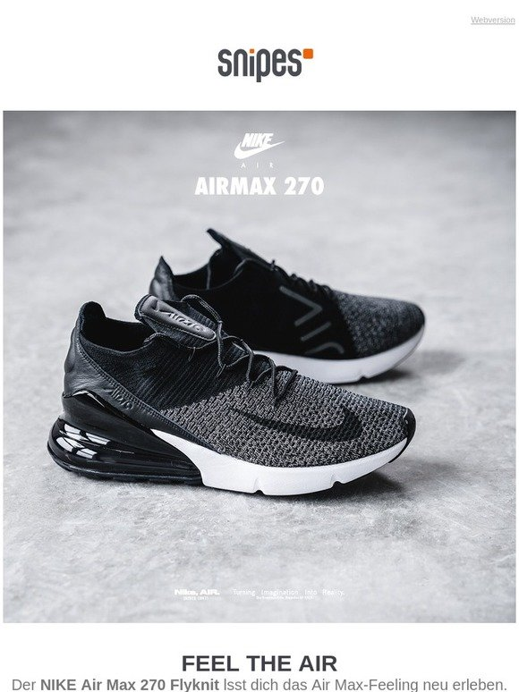 huge selection of ac082 2bb01 Com  NIKE Air Max 270 Flyknit bei SNIPES   Milled