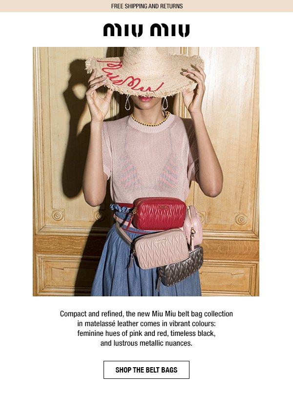 Miu Miu  Discover the new Miu Miu belt bag collection  eb14fcd9a26ae