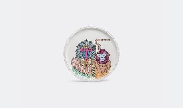 'Primates' plate by Elena Salmistraro for Bosa