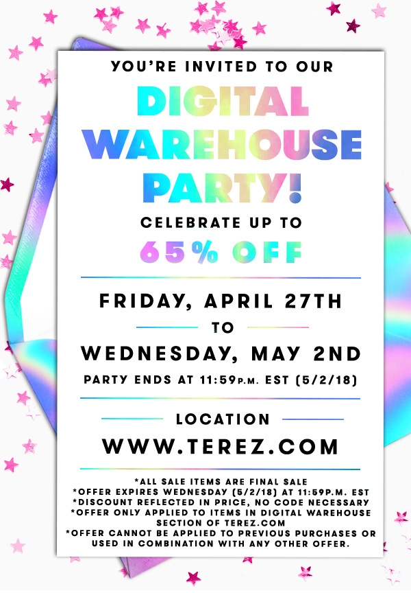 Terez: You're Invited: Digital Warehouse Party   Milled