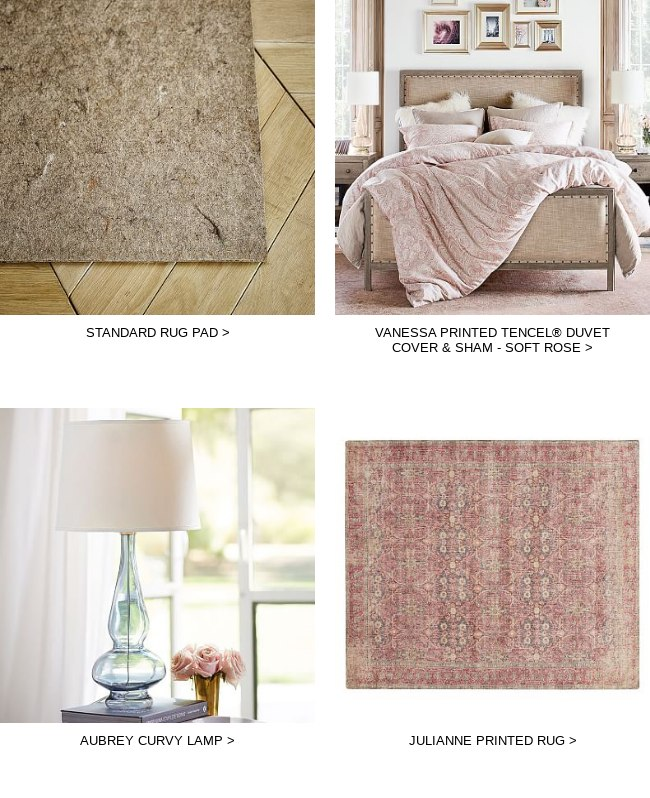 Pottery Barn: Come back soon – items