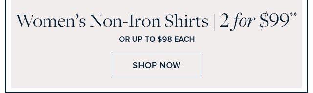 WOMEN'S NON-IRON SHIRTS | SHOP NOW