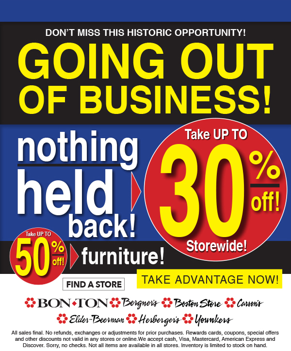 Bostonstore Com Liquidation Savings Hurry In For Best Selection
