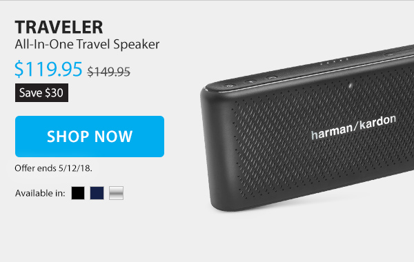 Save $30 on the Traveler. All-in-one traveler speaker.  Sale Price $119.95. Shop Now.