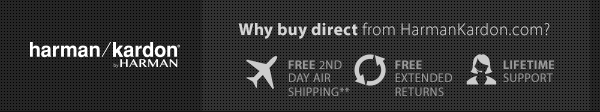 Why Buy Direct from Harman Kardon?