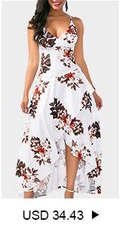 Overlap Flower Print White Slip Dress