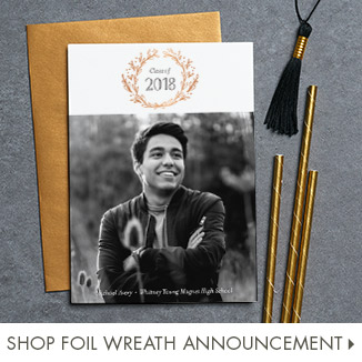 Shop Foil Wreath Announcement