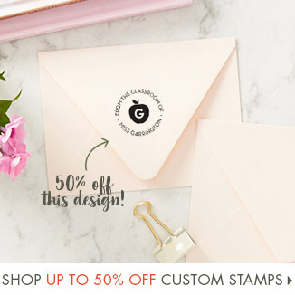 Shop Up to 50% Off Custom Stamps