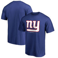 New York Giants NFL Pro Line Team Lockup T-Shirt - Royal