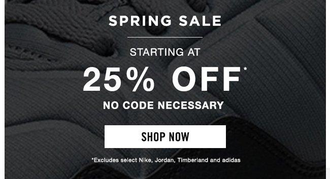 Spring Sale - 25% Off