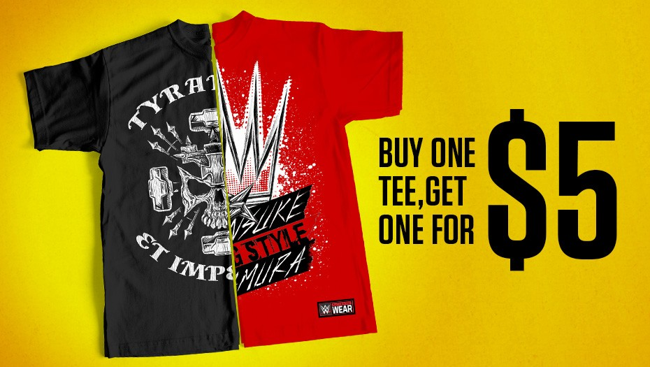 Buy 1 tee, get 1 for $5