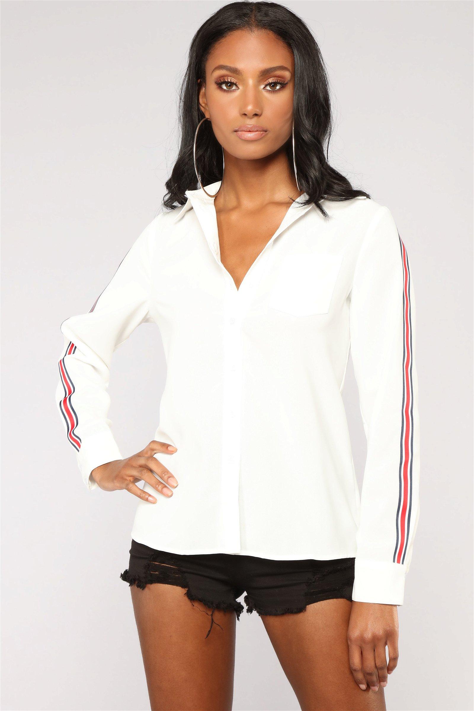 Lianne Button Down Shirt - Off White