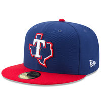 Texas Rangers New Era Diamond Era 59FIFTY Fitted Hat - Navy/Red