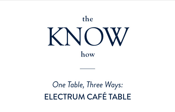 ELECTRUM CAFE TABLE