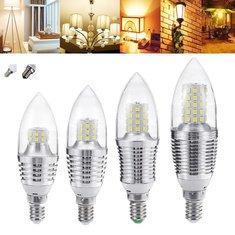 E27/E12 5W/7W/9W/12W LED Candle Bulb AC85-265V