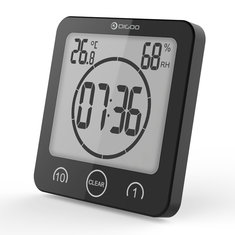 Digoo DG-BC10 LCD Waterproof Thermometer Clock Timer