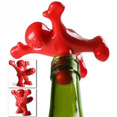KCASA KC-SP003 Funny Happy Man Guy Wine Stopper