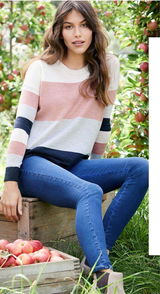 Milan Stripe Pullover >