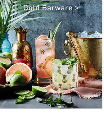 Gold Barware