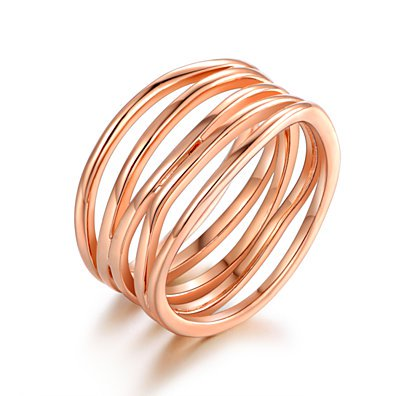 Rose Gold Plated Statement Ring
