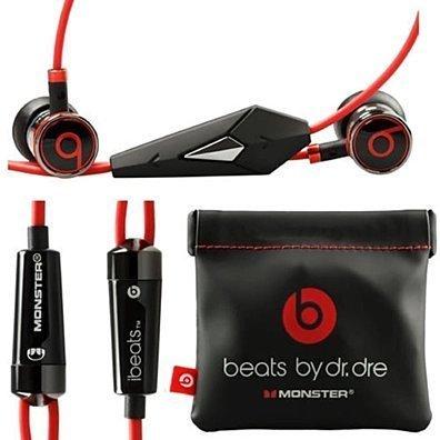 Original Beats by Dre iBeats In-Ear Headphones Earphones BLACK Bulk Packaging