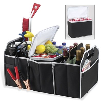 Collapsible Car Trunk Organizer with Detachable Cooler