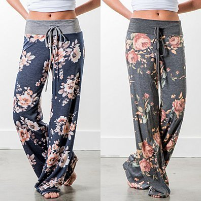 Floral Print Wide Leg Lounge Pants in 8 Styles