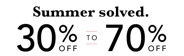 30% Off To 70% Off Entire Store