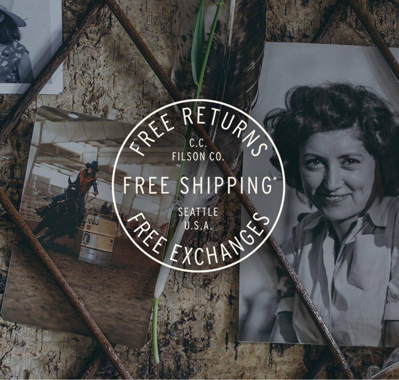 FREE SHIPPING. FREE EXCHANGES. FREE RETURNS.