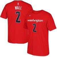John Wall Washington Wizards adidas Net Number T-Shirt - Red