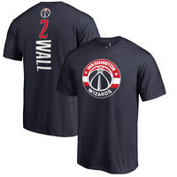 John Wall Washington Wizards Fanatics Branded Backer Name & Number T-Shirt - Navy