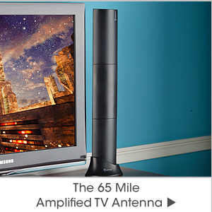 The 65 Mile Amplified TV Antenna