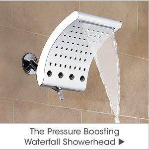 The Pressure Boosting Waterfall Showerhead