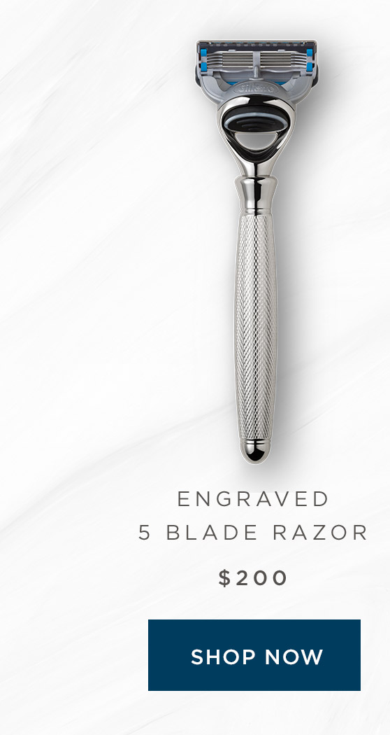 Engraved 5 Blade Razor - Shop Now