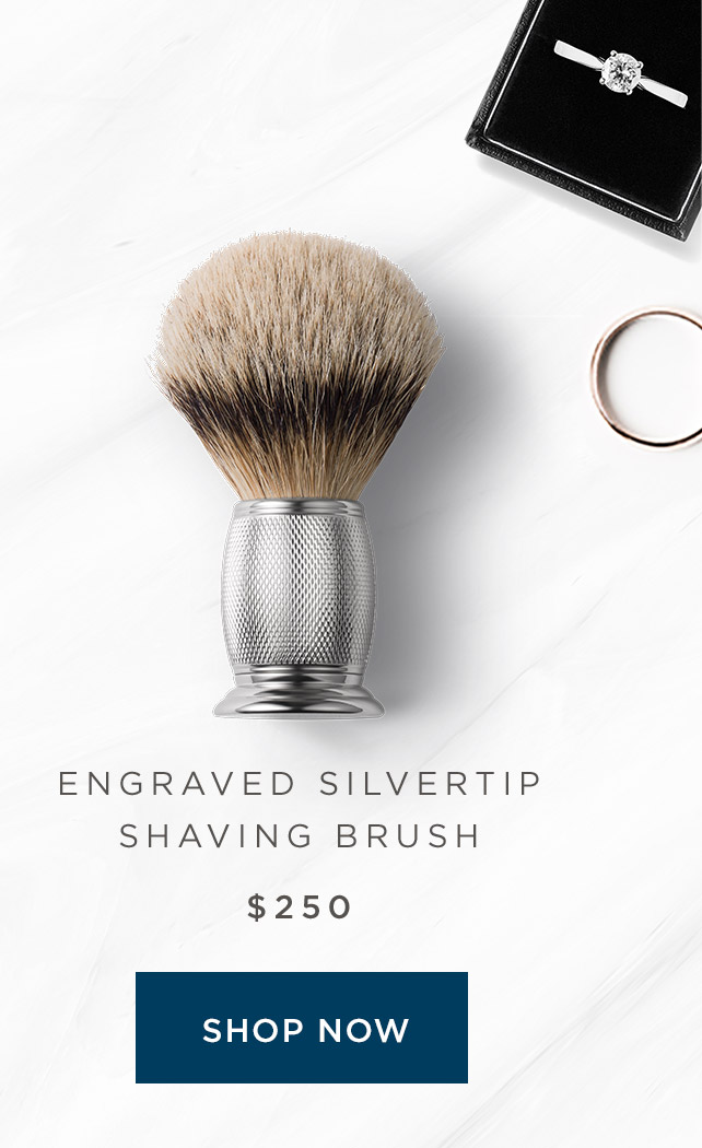 Engraved Silvertip Shaving Brush - Shop Now