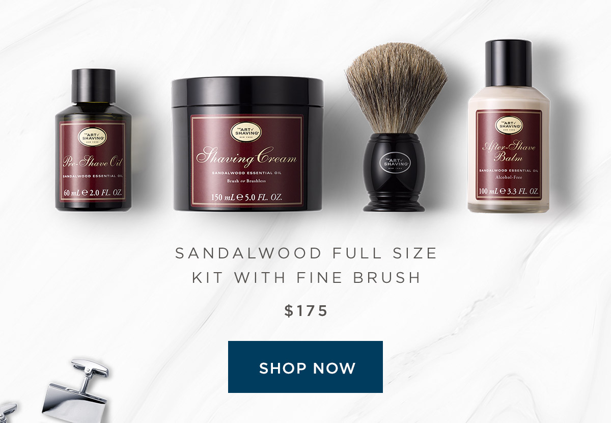 Sandalwood Full Size Kit with Fine Brush - Shop Now
