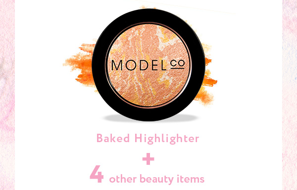 Modelco baked highlighter + 4 other beauty items
