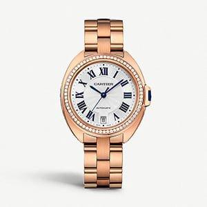 CARTIER Cartier Cl de Cartier 18ct pink-gold and diamond watch
