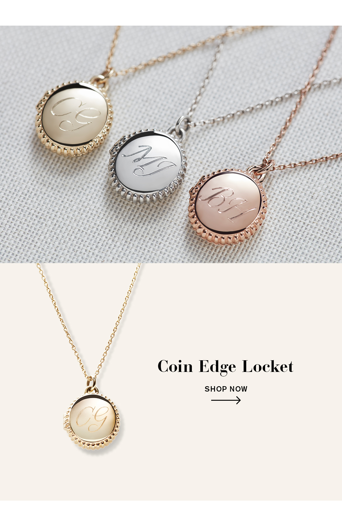 Coin Edge Locket