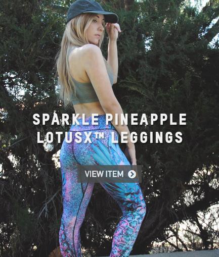 LOTUSX SPARKLE PINEAPPLE LEGGINGS
