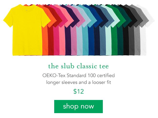 the slub classic tee