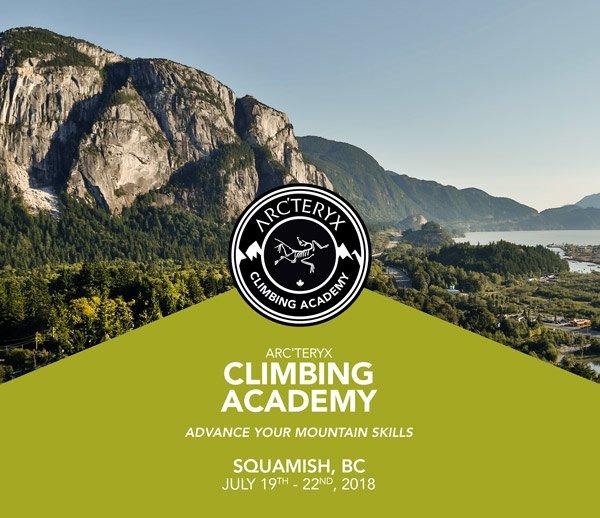 ARC'TERYX CLIMBING ACADEMY - JULY 19 - 22, 2018
