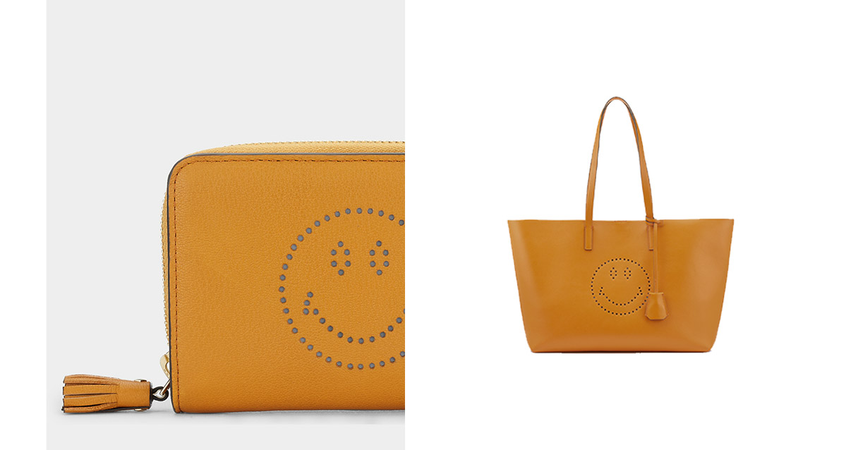 smiley bag and wallet