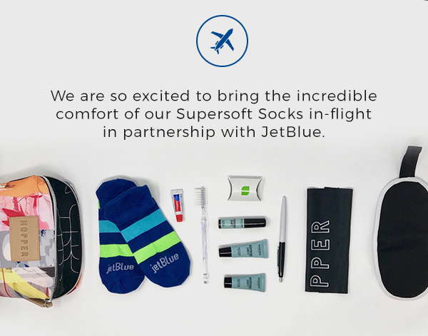 We are so excited to bring the incredible comfort of our Supersift Socks in-flight