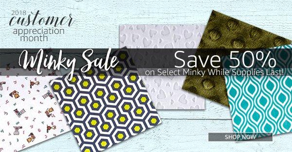 Minky Sale