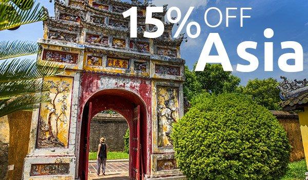 15% OFF Asia