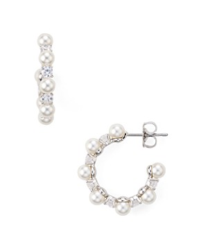 Nadri Mare Small Hoop Earrings
