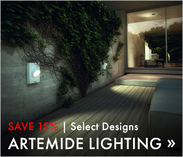 Save 15%. Select Designs. Artemide Lighting.