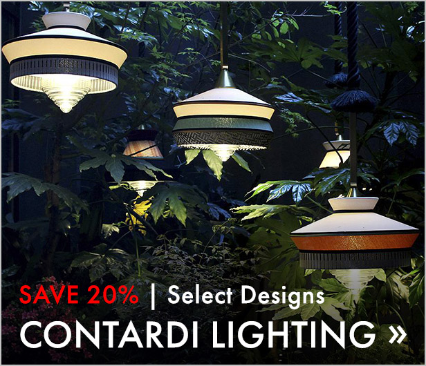 Save 20%. Select Designs. Contardi Lighting.