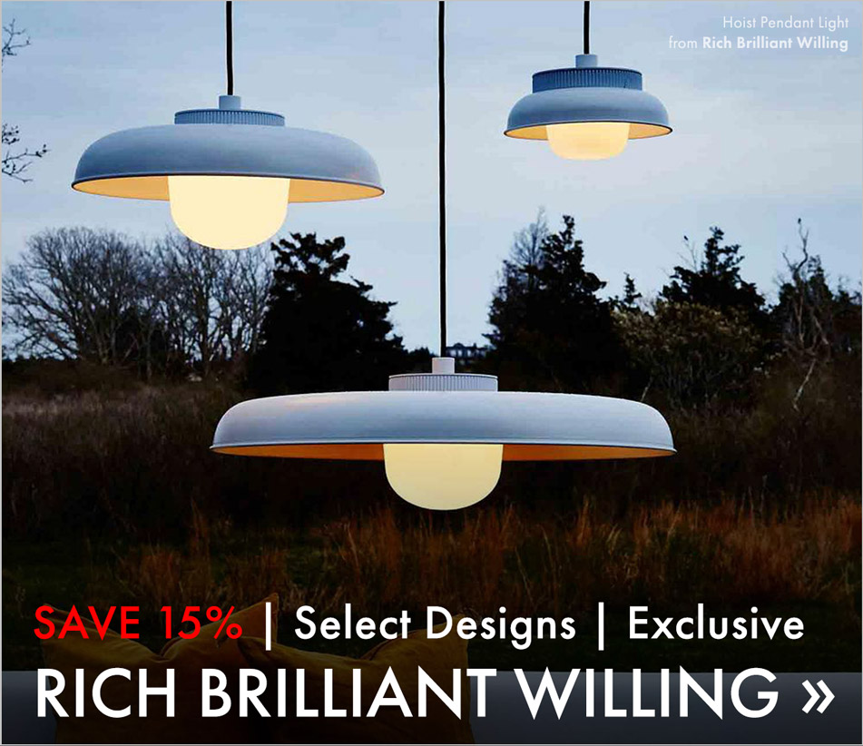 Save 20%. Select Designs. Exclusive. Rich Brilliant Willing.